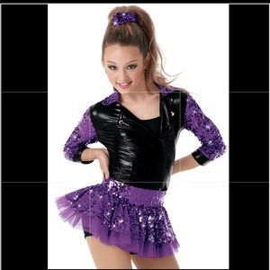 Sparkly Purple Sequenced Tap Costume Set
